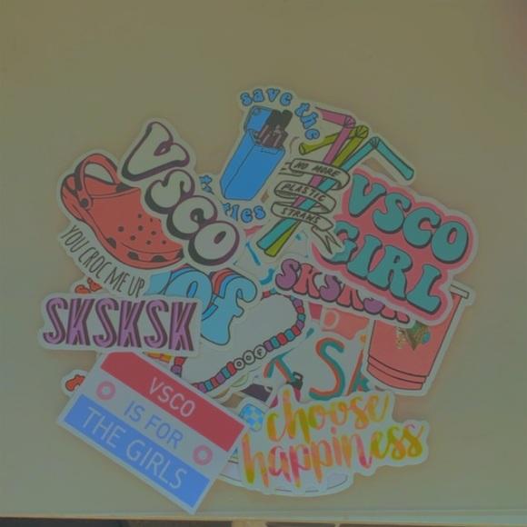20 pack VSCO girl stickers!